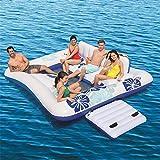Aufblasbare Sich hin- und herbewegende Reihe des Swimmingpools im Freien, Sommer-großes Wasser aufblasbare Berg-Sich hin- und herbewegendes Reihen-Bettspielzeug mit Eiseimer for5-6 Leute -326 * 287CM