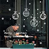 Weihnachten Fenstersticker, Schneeflocken Aufkleber, Fensterbilder Statisch...