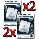 2 x Rowenta 4 sacs wonderbag Universal Allergy Care (soit 8 sacs au total) Endura wB484720