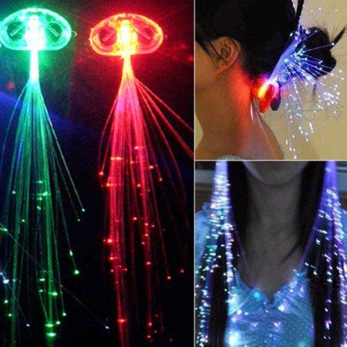 Zehui LED-Haarspange, Glasfaser, mehrfarbig