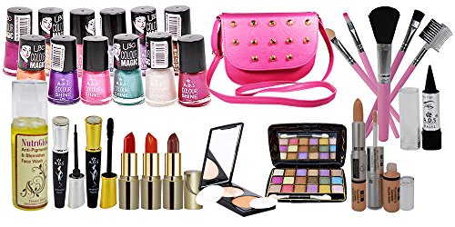 adbeni Make Up Set Combo for Women, Multicolour - Pack of 28