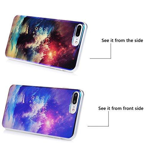 Ultra Mince Etui pour Apple iPhone 7 (4.7 pouces), HB-Int 3 en 1 Coque de Protection en Silicone Souple TPU [Blu-Ray] Effect Housse Etui Doux Arrière Case Cover Dessin de Mode Clair Gel Légère Slim Fl Graffiti