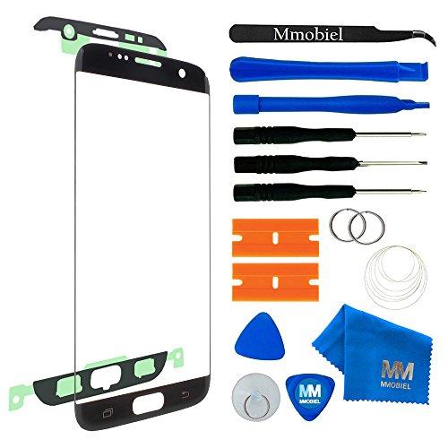 MMOBIEL Front Glas Reparatur Set kompatibel mit Samsung Galaxy S7 Edge G935 Series (Schwarz) Display mit Werkzeug-Set -