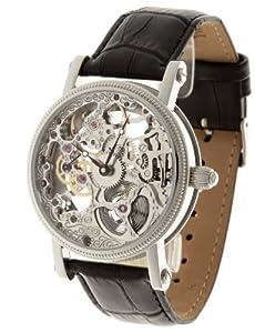 Reloj Yves Camani YC1021-A de caballero automático con correa de piel negra - sumergible a 50 metros de Yves Camani