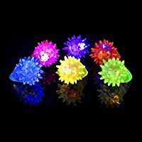The Glowhouse Flashing Jelly Rings (Pack of 6)