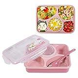 Manfore Lunch Boxen, Bento Boxen/Brotdose/Kinder Lunchbox mit 5 Unterteilungen Geeignet für Mikrowelle, Gefrierschrank und SpüLmaschine