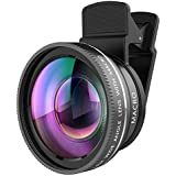 2-in-1 Camera Lens Kit, 0.45X Super Wide Angle Lens + 12.5X Macro Lens Kit For IPhone X 8 7 7Plus Samsung Galaxy S8 S8+ S7 S7 Edge And So On Black
