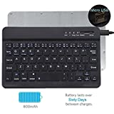 "Tempo QWERTY Italiano Layout Tastiera Wireless Bluetooth Keyboard 7"" Compatibile Qualsiasi Android / Windows /IOS-Smartphone Tablet,Samsung Galaxy Tab,Google Nexus,Amazon Fire-nero"