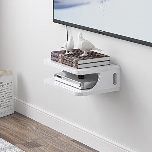 HAKN Set-top box mensola TV pensile per soggiorno scaffali a muro Ripiani  per camera da letto Parete per riporre il router 2 colori disponibili 30 *  ...