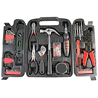 Duratool 14956TL Household Tool Kit in Blow Moulded Carry Case - Black (129-Piece)