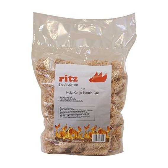 1 Kg Ritz Bio Anznder Aus Holzwolle Wachs Anznder Kaminanznder Ofenanznder