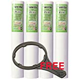Kemflo Spun Filters (4 Nos.) with FREE Spanner for R.O. Purifiers