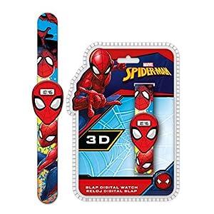 Spiderman Reloj de Pulsera Digital Slap 3D (MV15411), Multicolor (Kids Licensing 1)