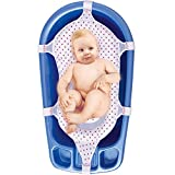 Baby Badesitz Badewannennetz Luxus BadeNetz Weiß/Rot Sevibaby Badewannensitz für Babys Bad