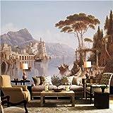 Papiers peints de style européen personnalisé 3D peintures murales de peinture décorative Vintage Castle Forest photo fonds d'écran pour le salon, 350cmX245cm