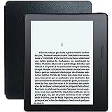 """Liseuse Kindle Oasis avec étui de chargement en cuir noir, Écran Haute Résolution 6"""" (15 cm) 300 ppp avec éclairage intégré et Wi-Fi"""