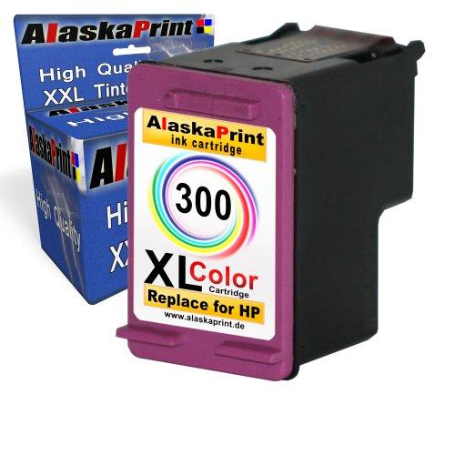Premium Kompatible Tintenpatrone als Ersatz für HP 300 XL Color Druckerpatrone für Deskjet F2492 F4210 F4200 F4224 F4272 F4280 F4580 D1660 D2560 D2660 D5560 F2420 F2480 F2400 F4500 Patronen(Farbig) 1x300-hpC (Hp Photosmart D110a-drucker)