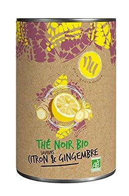 NU Thé Noir Bio Saveurs Citron/Gingembre 90 g - Lot de 3