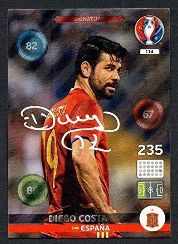 Adrenalyn XL Panini-Sticker zur UEFA Euro 2016,Costa, Karte mit Autogramm