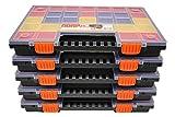 6er SET Sortimentskasten Kleinteilemagazin Sortierbox groß mit Deckel Sortierkasten Sortierkoffer...