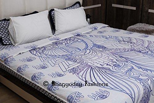 Tribal afrikanischen Bär Mandala Boho Tröster Bettwäsche Überwurf indischen handgefertigt Bettbezug Twin Betten