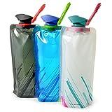 Ganzoo Trink-Tüte/Behälter 0,7 Liter, Flasche/Beutel Outdoor Camping / 3er Set