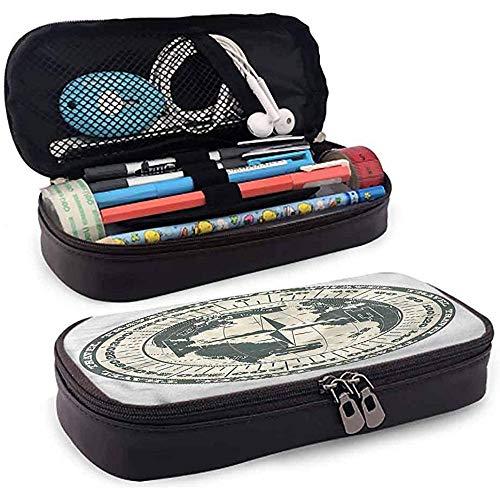 Bleistiftbeutel, federmäppchen tasche, federmäppchen, große kapazität mittelschule büro kompass globus reisen erkundung 20 cm * 9 cm * 4 cm