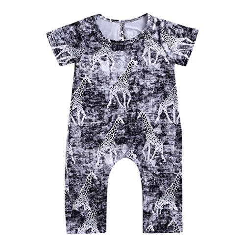 (Elecenty Babyklamotten Kinderkleidung,Halloween Neugeborenes Giraffe Print Strampler Lange Hosen Spielanzug Babyausstattung Mädchen Kurzarm Mädchen Romper Junge Babybodys)