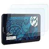 Bruni JAY-tech Tablet-PC XTE7D Folie - 2 x glasklare Displayschutzfolie Schutzfolie für JAY-tech Tablet-PC XTE7D