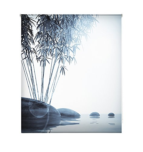 HappyStor HSCZ7466 Estor Enrollable Estampado Digital Zen Tejido Traslúcido Medida Total Estor:120x180 (**Solo Ancho Tela:116-117cm.**)