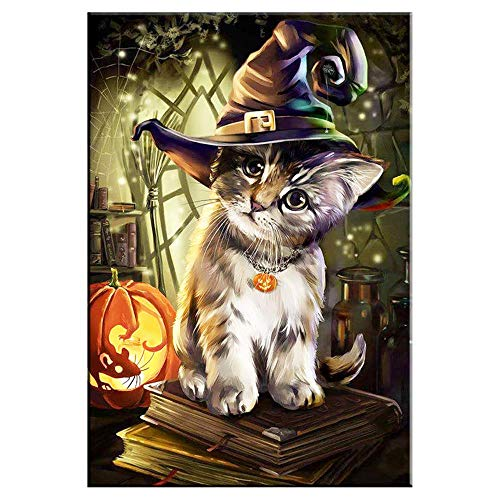 YDPTYANG Erwachsene Puzzle Hölzernes 1000 Stück Halloween-Katze Kinder Amateur Art Spiels Creative Spielzeug Puzzles