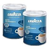 Lavazza DEK Kaffee, Decaffeinato, gemahlen in Dose (2 x 250g)