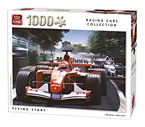King Racing Cars Collection Flying Start 1000 pcs Puzzle - Rompecabezas (Puzzle Rompecabezas, Vehículos, Adultos, Hombre/Mujer, 8 año(s), Cartón)