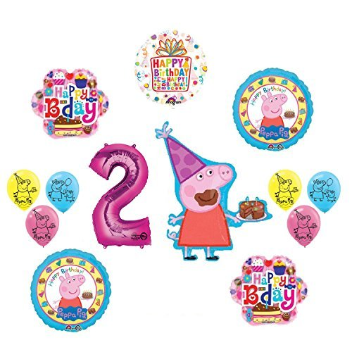 Peppa Pig 2nd Birthday Party Balloon And Decoration Kit