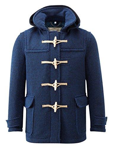 84cbd3c57a3837 Montgomery Uomo Mayfair Cappotto Indaco (Medium)... - Abbigliamento