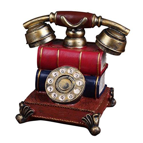 MagiDeal Alt Telefon -Design Münze Bank Geld Sparen Box Sparschweine Gelddose, aus Harz (Altes Geld Und Münzen)