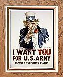 L Lumartos Vintage-Poster I Want You, modernes Deko-Wandbild, Holz, A4