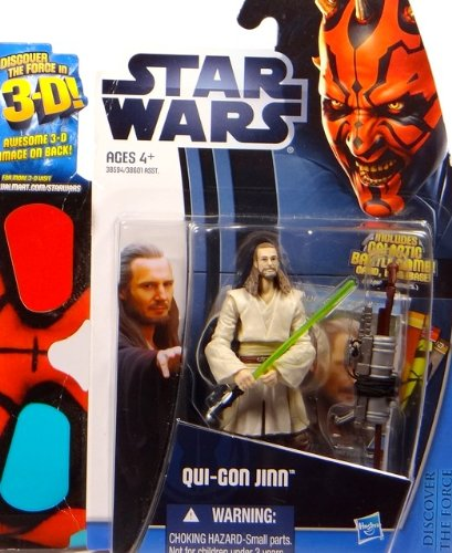 Star Wars Movie Qui-Gon Jinn incl. 3-D Brille (Kostüm Qui Jinn Gon)