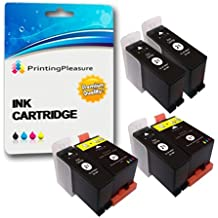 6 (2 SETS + 2 BLACK) Compatible Dell Series 21 Ink Cartridges for Dell P513W P713W V313 V313W V513W V515W V51 V715W - Black/Colour, High Capacity