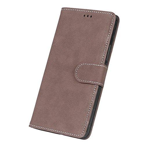 Solid Color Premium PU-Leder Tasche Cover matt Retro Flip-Ständer Case Wallet Fall mit Kartensteckplätze Photo Frames für Nokia Microsoft Lumia 850 ( Color : 5 , Size : Nokia Microsoft Lumia 850 ) 3