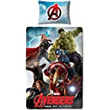Character World Disney Marvel Avengers Edad de Ultron Single Panel Duvet Set