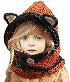 Sumolux Cappelli in Maglia da Bambini Invernale Berretto Volpe Animale Caldo Coif Cappuccio Sciarpa