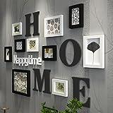 Moderne einfache kreative massivholz fotowand wohnzimmer multi bild bilderrahmen kombination ( Farbe : A )