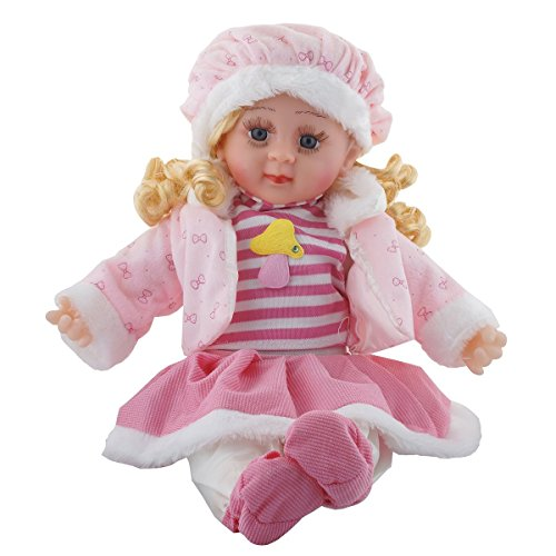 richy toys musical doll sings poems stuffed plush soft toy kids girls birthday love gift 45 cm (colour & design may vary) - 5108XoC HsL - Richy Toys Musical Doll Sings Poems Stuffed Plush Soft Toy Kids Girls Birthday Love Gift 45 CM (Colour & Design May Vary)