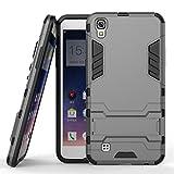 Greetrass LG X Power(5.3 zoll) Hülle, [Armor Box] [Doppelschicht] [Heavy-Duty-Schutz] Hybrid Stoßfest Schutzhülle,2 in 1 Silikon + Hart Polycarbonat Protector Phone Case mit Ständer für LG X Power