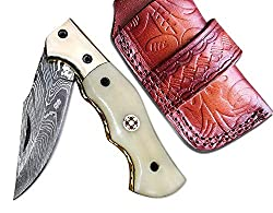 Damascus steel for folding knife blades