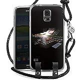 DeinDesign Samsung Galaxy S5 Carry Case Hülle Zum Umhängen Handyhülle mit Kette Tonstudio Mischpult Regler