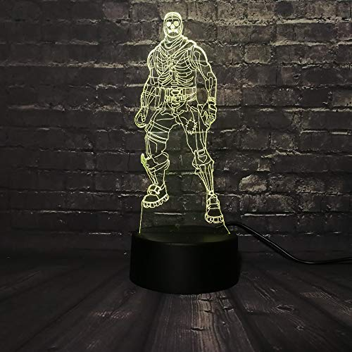 (Schädel trooper halloween 3d led nachtlicht figur cartoon charakter film marvel avengers abbildung 7 farbwechsel boy kinder spielzeug)