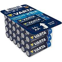 Varta Longlife Power Batterie - AA Mignon Alkaline Batterien LR6, 24er Pack