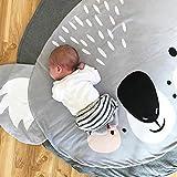 Alfombra de Juegos Bebes Estera de Arrastre para Bebé Animales Coala Gris Tapete De Juego Manta Infantil Decoración Habitación Regalo de Navidad Niño